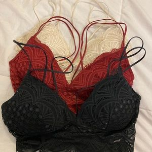 3pc lace Bralette bundle